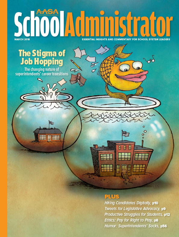 Cover of the March 2018 School Administrator magazine